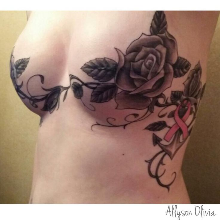 double mastectomy tattoo breast cancer, survivor, reconstruction, double mastectomy, tattoo, cover up, scar, roses, anchor, hope, breast cancer awareness