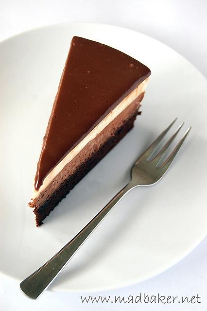 Triple Chocolate Mouse Cake