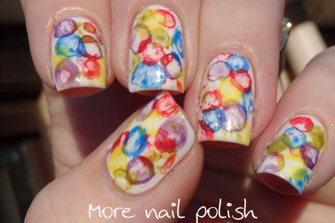 Bright bubbles - sort of! ~ More Nail Polish