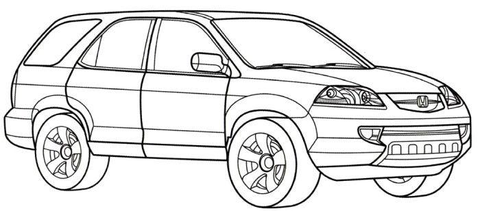 auto b good coloring pages - honda mdz coloring page auto pinterest