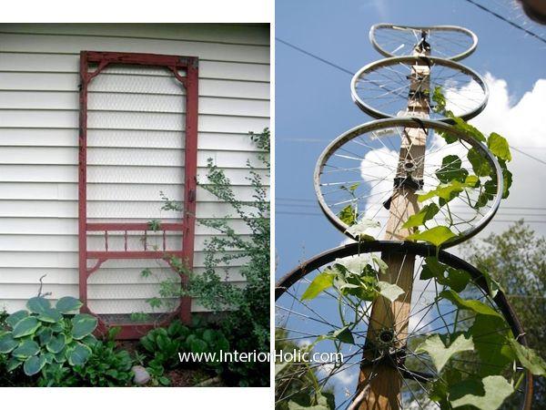 Outdoor decor diy trellis ideas for Wire garden trellis designs