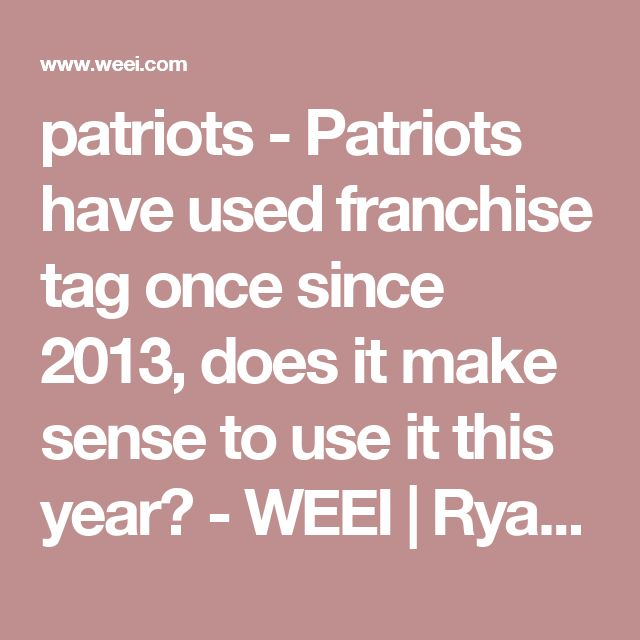 Best 25+ Franchise tag ideas on Pinterest Patriots garoppolo, Sf - knowing about franchise contracts