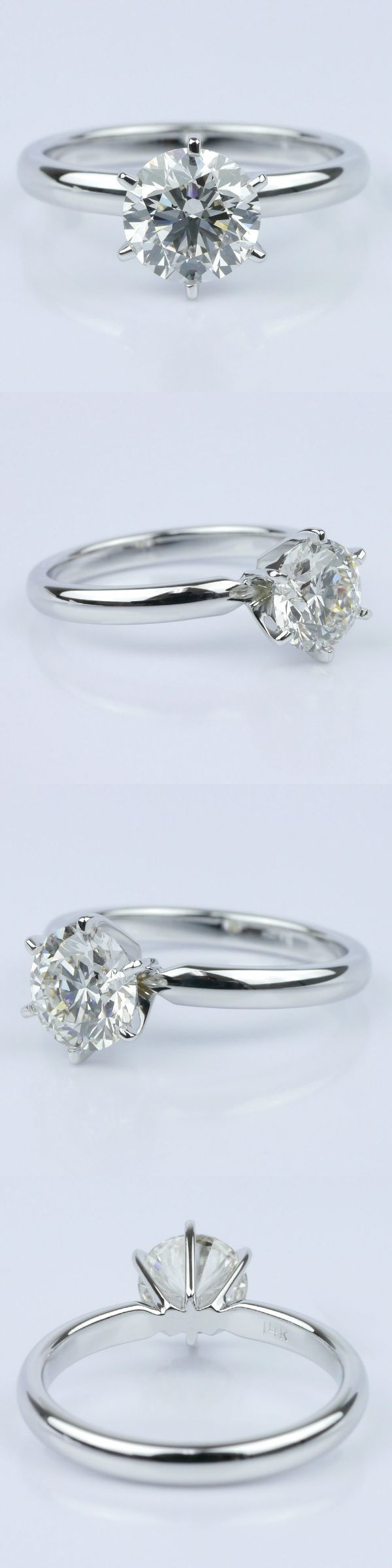 Six-Prong Solitaire Engagement Ring! Round 1.75 Ctw. Color: J Clarity: VS2 Cut: Super Ideal Certification: GIA Diamond/Gem Cost: $5,588 Metal: 14K White Gold Setting Cost: $395 Total Cost: $5,983 www.brilliance.com