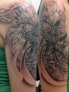 Tyrael tattoo done by Walter Velazquez.