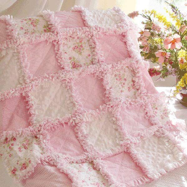Baby Rag Quilt Precious Roses