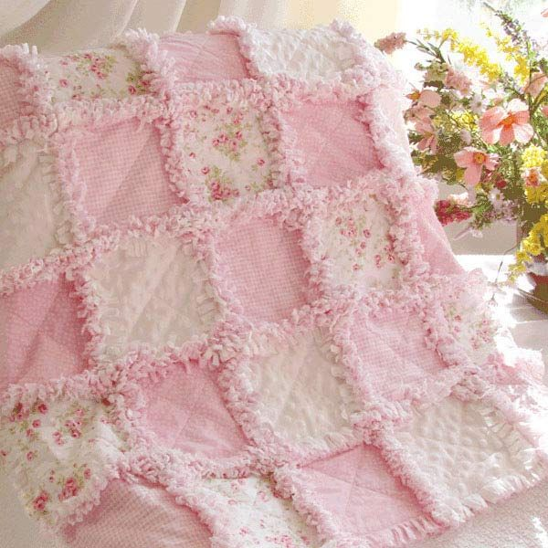 Baby Rag Quilt Sweet Precious Roses at Quilts Just 4 Kids