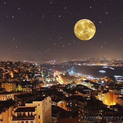 SUPER MOON VIEW IN ISTANBUL