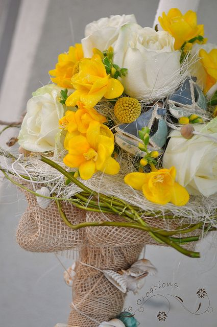 Lumanare botez cu miros de vara si de mare - Summer christening candle