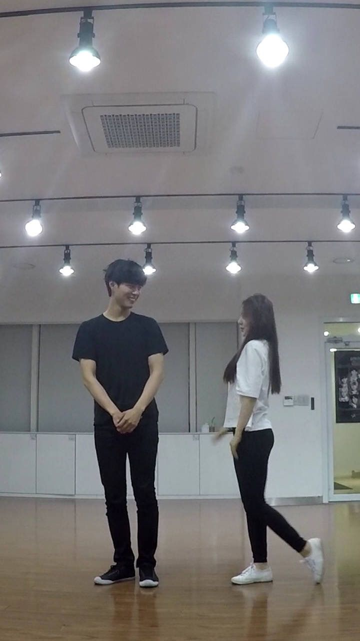 160216 Park Bogum and Red Vevet's Irene at SM Practice Room