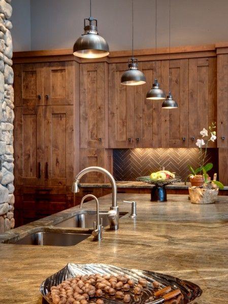 Kitchen Lighting Design, Rustic Kitchen
