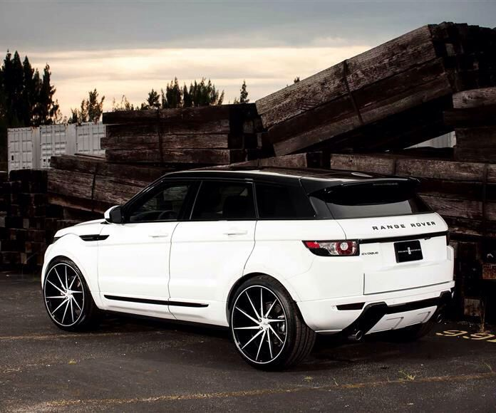 "Land Rover Evoque on 22"" Vossen CVT wheels. Available at ..."