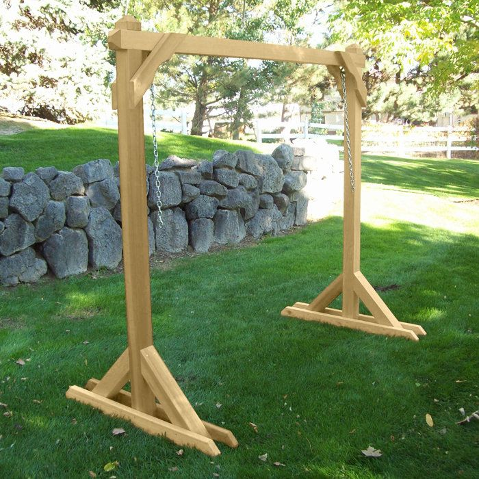 Lovely Basic Frame Porch Swing Stand