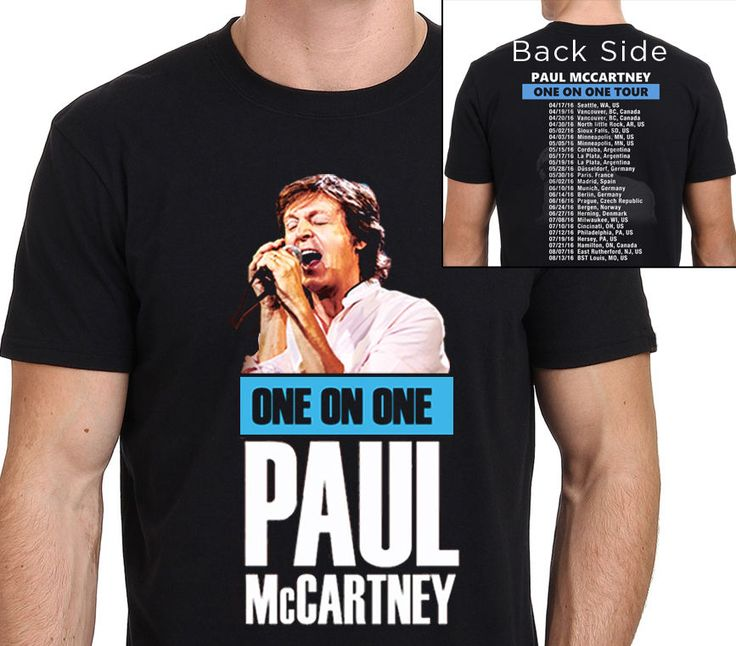 >> Click to Buy << Cool Slim Fit Letter Printed Paul Mccartney One On One Tour 2016 T-Shirt With Schedule In Back Size:XS-To-XXL #Affiliate