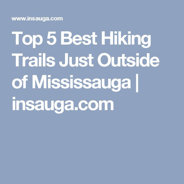 Top 5 Best Hiking Trails Just Outside of Mississauga | insauga.com
