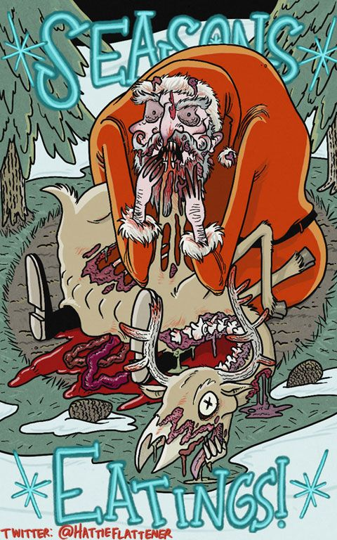 Hattie Flattener Presents... || Comics - Seasons Eatings!