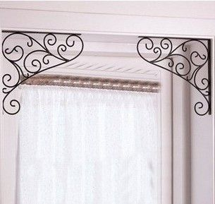 2013 Free Shipping   Wrought iron decorative wall angle bracket / bracket / door…