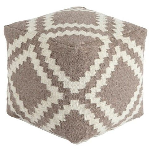•  The woven pattern of this geometric pouf is pieced together like a jigsaw puzzle. A total Zen-like complement to the look and feel of your decor.  Signature Design by Ashley is a registered trademark of Ashley Furniture Industries, Inc.
