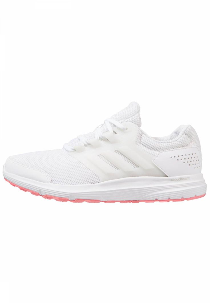 adidas Performance. GALAXY 4  - Neutral running shoes - white/tactile rose. Pattern:plain. Heel type:flat. Outsole:abrasive resistant,non-slip. Qualities:breathable. Insole:textile. Sole:abrasion-proof rubber. Sport:Running. Shoe tip:round. Padding type:Cold padding. Linin...