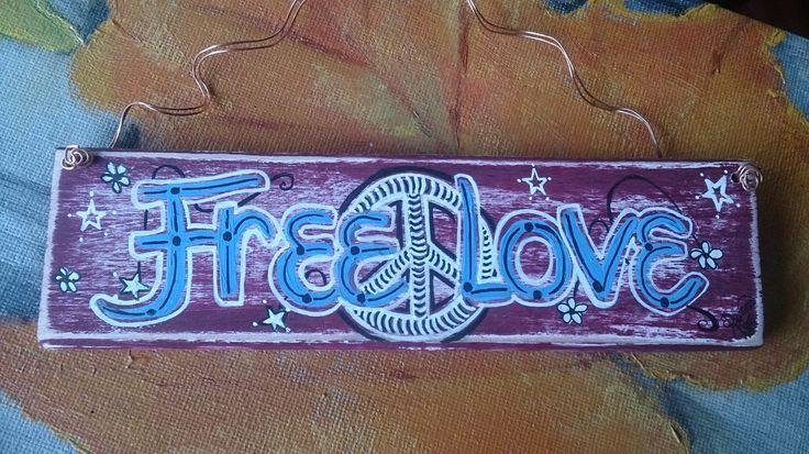 """FREE LOVE"" $12 ☮"