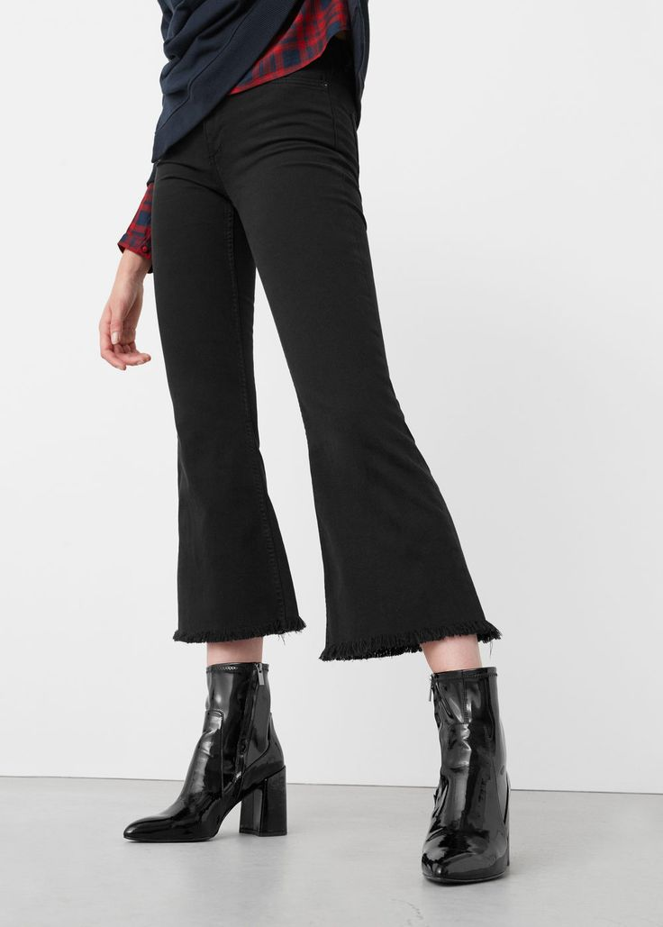 Flare trumpet jeans - Jeans for Woman | MANGO United Kingdom