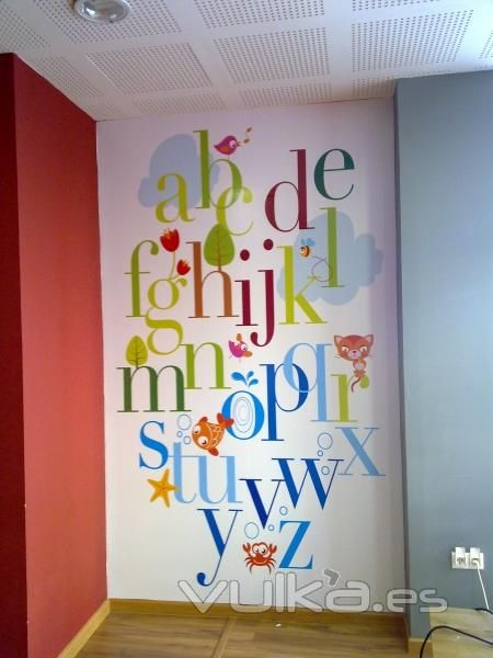 paint letters directly on wall? & 165 best Kids ~ ABC images on Pinterest | Letters Baby room and ...
