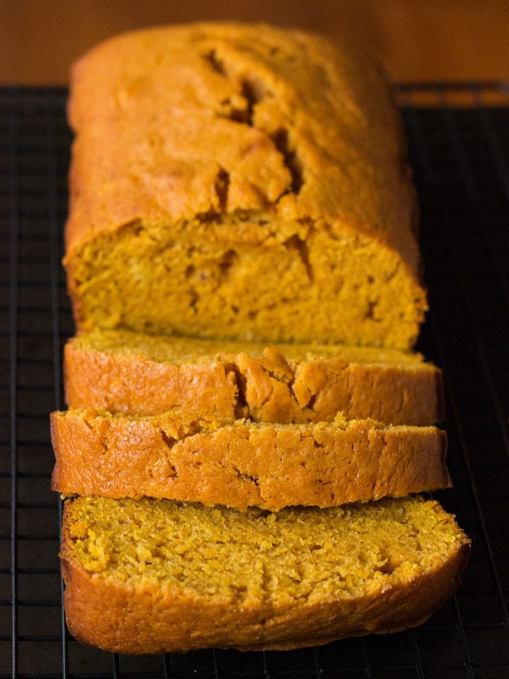 This Spiced Pumpkin Bread is the answer to boring banana bread. It's delicious slathered with butter, cubed up in bread pudding, or battered and turned into French Toast!
