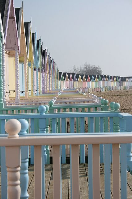 More beach huts and continual