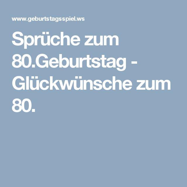 Lustige geburtstagswunsche 80