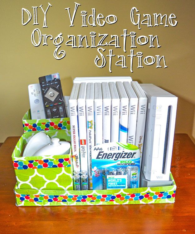 DIY Video Game Organization Station #BringingInnovation AD #recycle