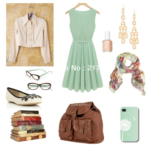 Super cute minty fresh pallet in this gorgeous look for the First Day of College fashion challenge. #fashion #contest #outfit #style