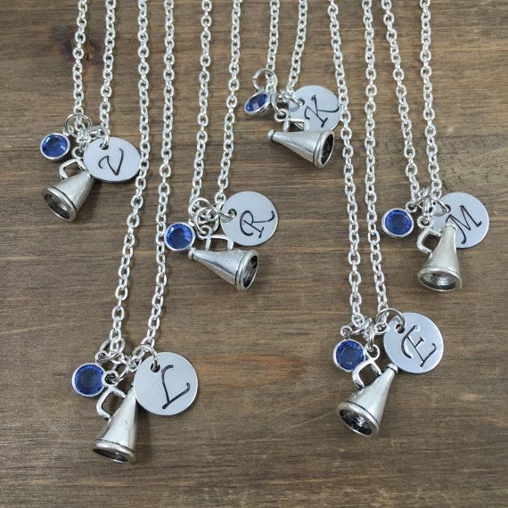 Personalized Cheerleader Necklace Cheer Team by SunflowerShadows