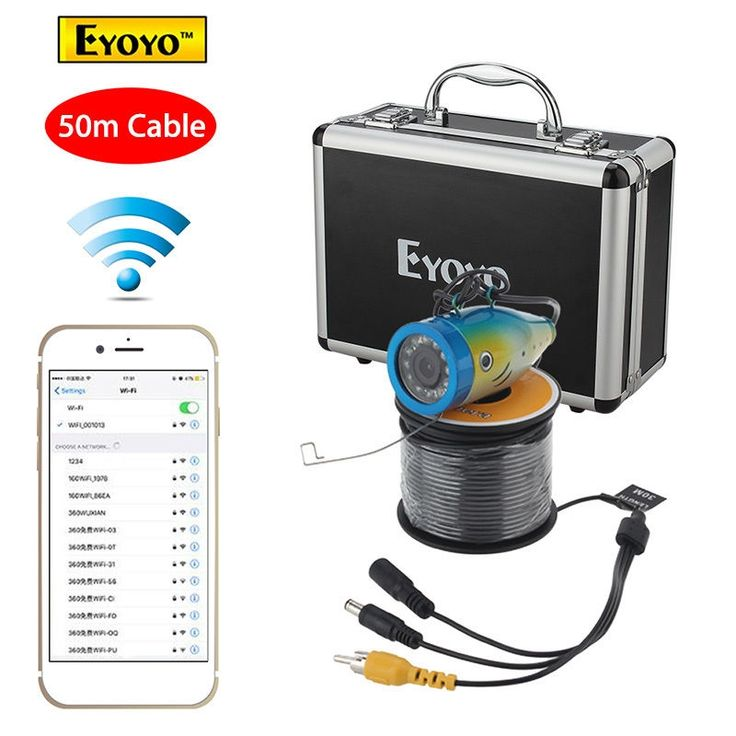 (147.30$)  Watch more here - http://aibj4.worlditems.win/all/product.php?id=32792481196 - Eyoyo 50M Fish Finder 2.4G WIFI Wireless Waterproof Underwater Fishing Video Camera Free shipping!