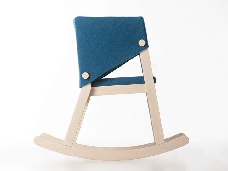 Rocking beech and felt chair IVETTA | #Rocking chair - Formabilio #swing #design