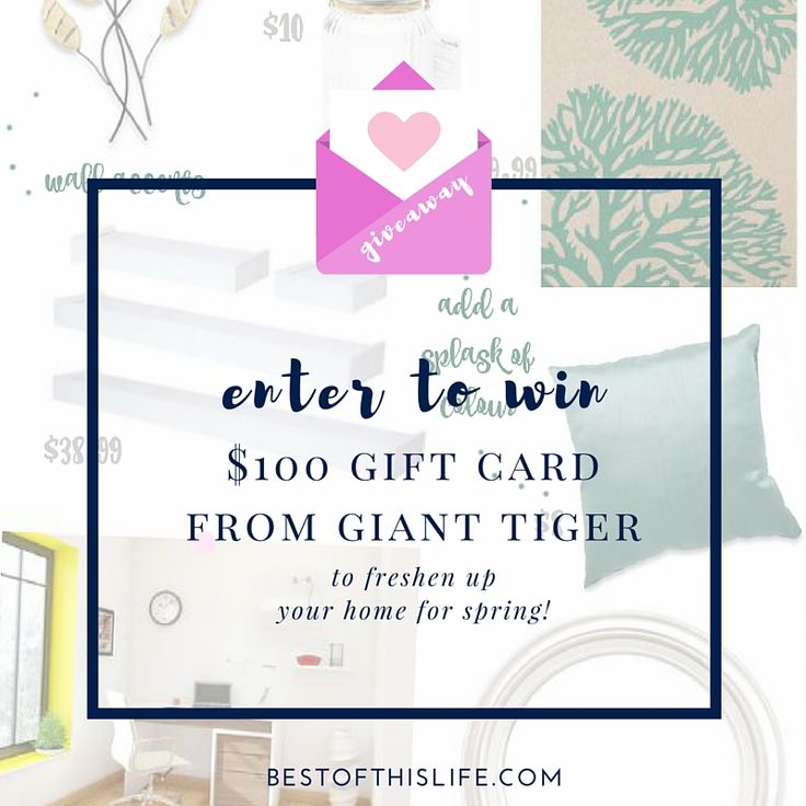 Enter to win $100 Gift Card from Giant Tiger - Giveaway ends May 2nd 2016 bestofthislife.com