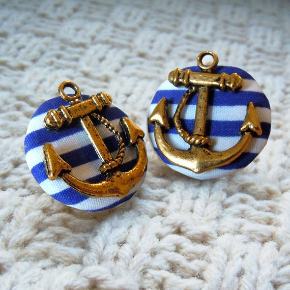 buying.buying.buying. $6!: Nautical Stripes, Anchors Earrings, Nautical Anchors, Studs Earrings, Jewelry, Buttons Earrings, Accessories, Sailing Away, Anchors Studs