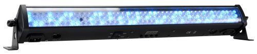 American DJ Supply Mega Go Bar 50 LED Lighting by American DJ Supply. $172.36. Presenting the Mega Go Bar 50 The ADJ Mega Go Bar 50 is a rechargeable lithium battery powered compact 24-inch (0.7-meter) LED lighting Bar that offers the creativity of RGB color mixing for stage or wall washing, plus the freedom to set up your fixture where ever you wish without the restrictions of power. The built-in battery will keep a charge for up to 8 hours (full on) from a full, si...