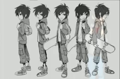 big-hero-6-concept-art-hiro-character ★ Find more at http://www.pinterest.com/competing