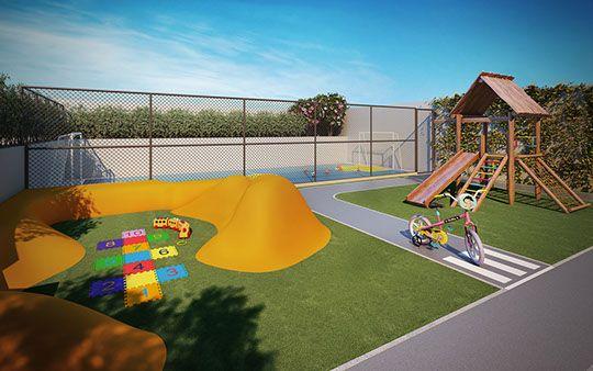 Playground moderno e mini quadra para as crianças - Start Vila Mascote