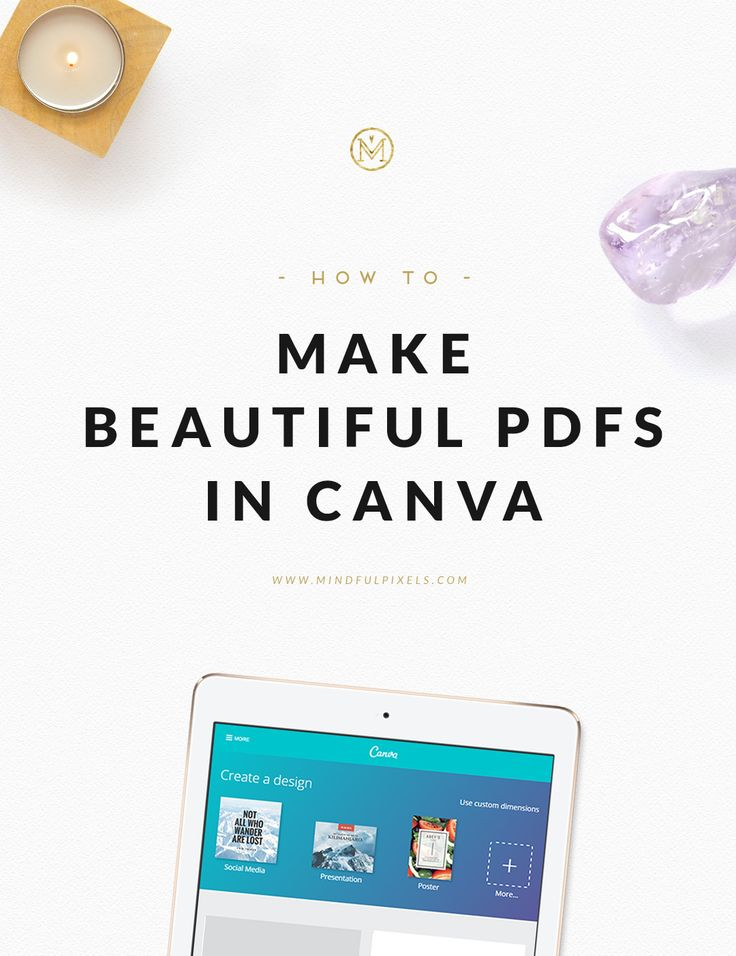 How to make beautiful PDFs in Canva. + 2 alternative workflows | Mindful Pixels