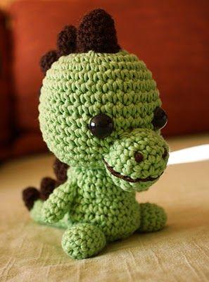 Artefleur - crocheted items, paintings and drawings: amigurumi, crochet tutorial dinosaur - homemade toys