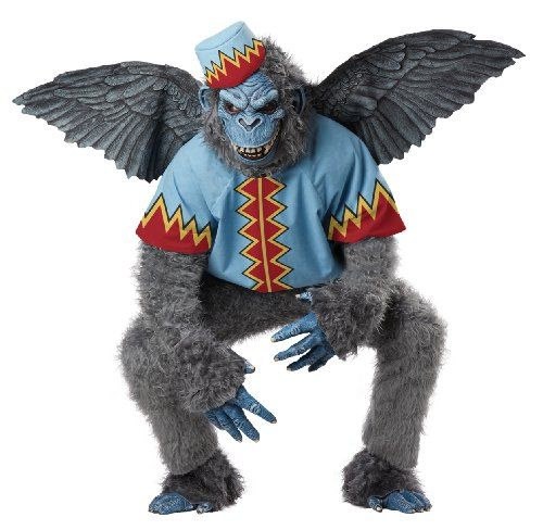 California Costumes Men's Evil Winged Monkey Adult, Grey/Blue, X-Large - Click image twice for more info - See a larger selection of mens halloween costume at http://costumeriver.com/product-category/mens-halloween-costumes/ - holiday costume , event costume , halloween costume, cosplay costume, classic costume, scary costume, super heroes costume, classic costume, clothing