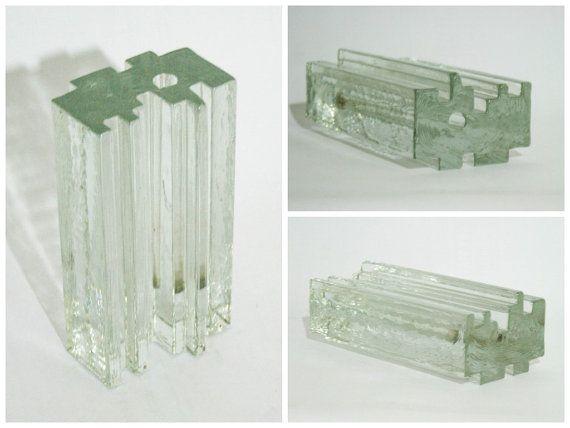 Veart Block Kristall Solifleur Vase by DoubleRandC on Etsy