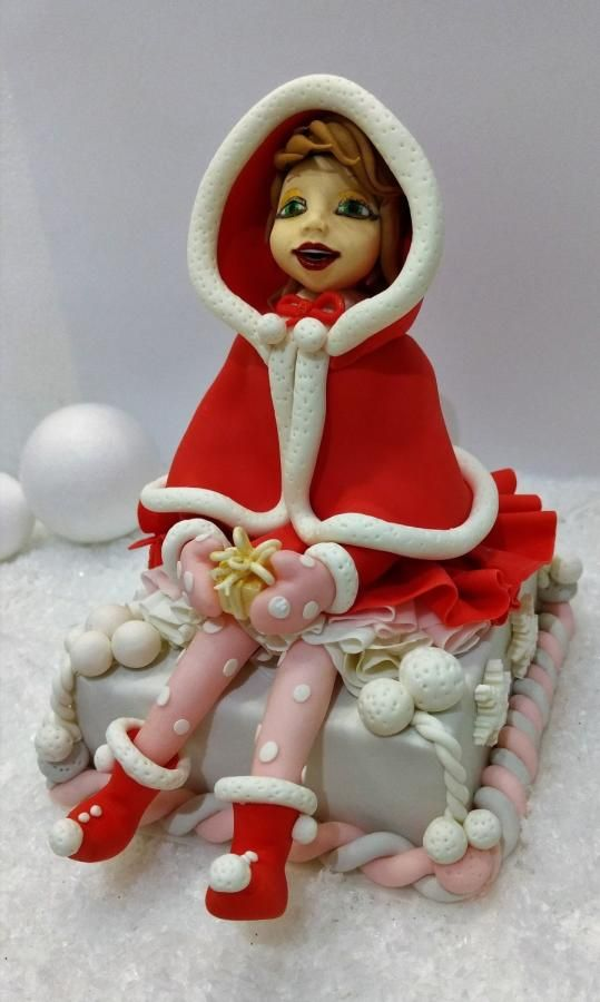 Santa's daughter is here! - Cake by Clara