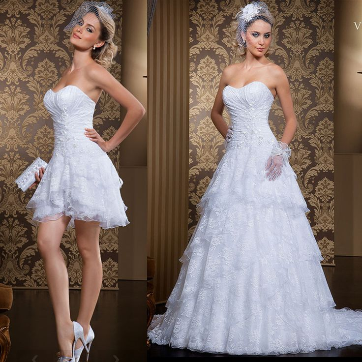 9 Best Wedding Dress With Detachable Skirt Images On