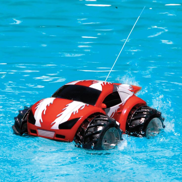 the rc amphibious car this is the remote controlled car that drives over land and