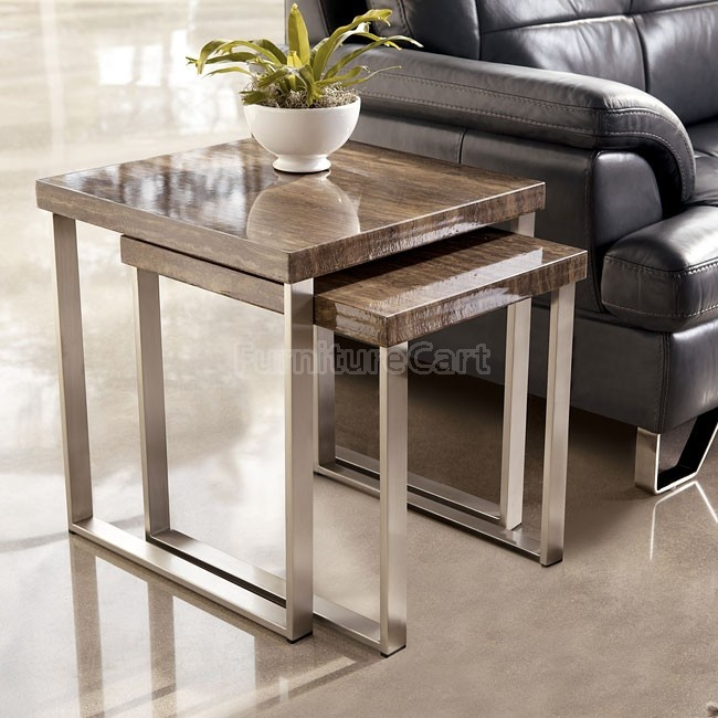 Pictured Ashley Furniture Living Room Nesting End Tables Item Also  Available As Nesting Cocktail Tables Effin Collection Part 95
