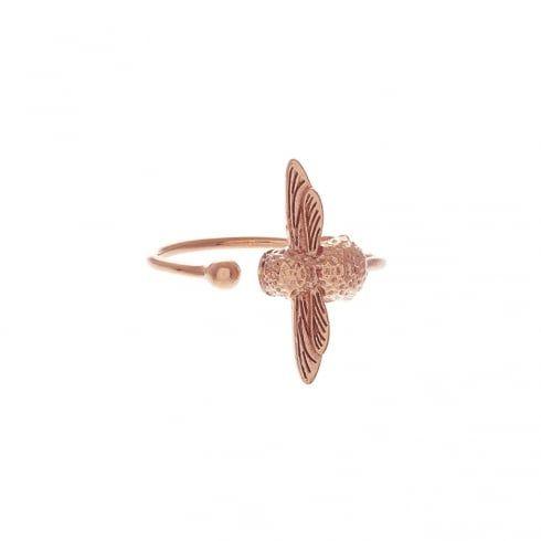 Moulded Bee Ring Rose Gold | Olivia Burton London