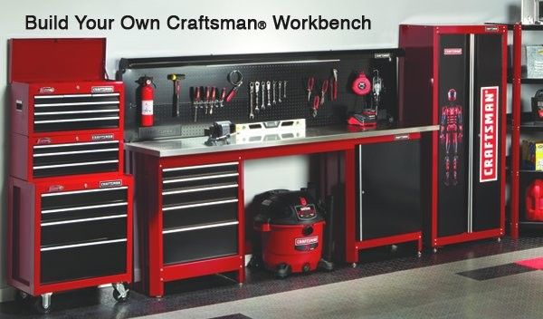 Garage Work Bench Pegboard