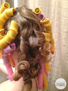How to Get the Perfect Curls - Cheer and Dance Hair Hack, using a hassle-free and no-friss curl formers for ringlet curls. Canadian review
