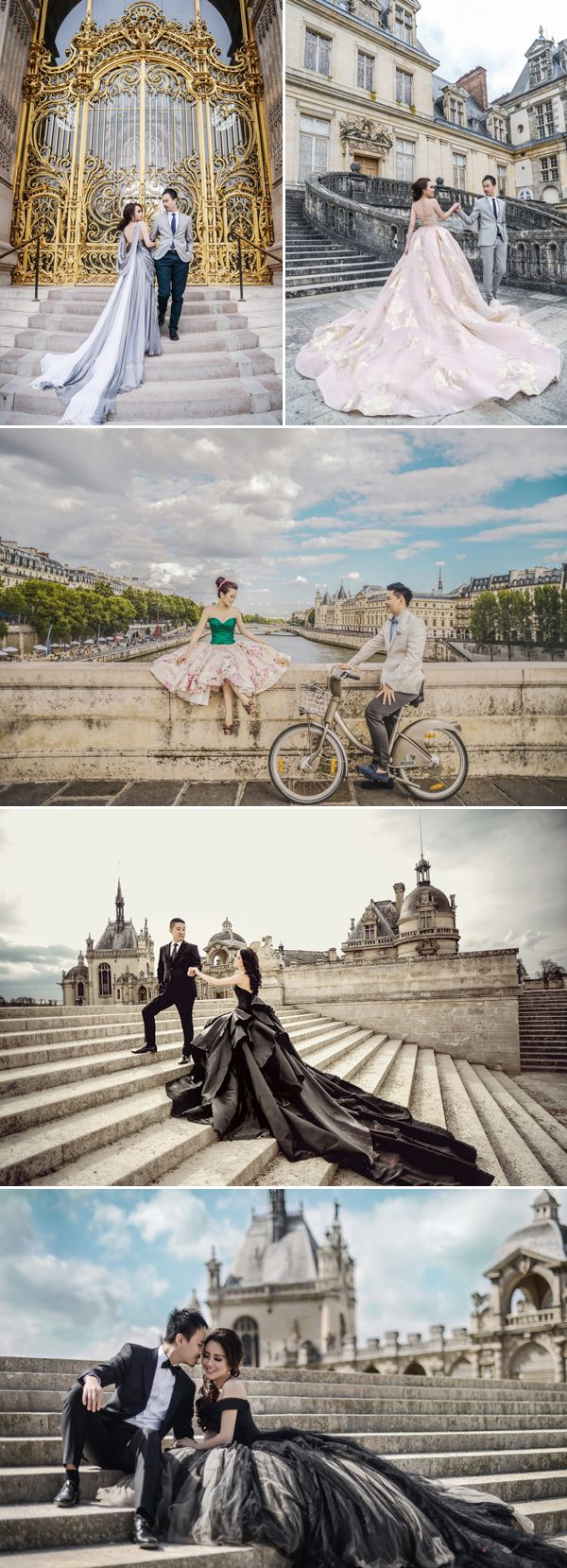 The Most Romantic Getaway! 35 Breathtaking Europe Pre-wedding Photos!